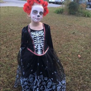 Girls 6/8 Halloween Costume Day of the Dead